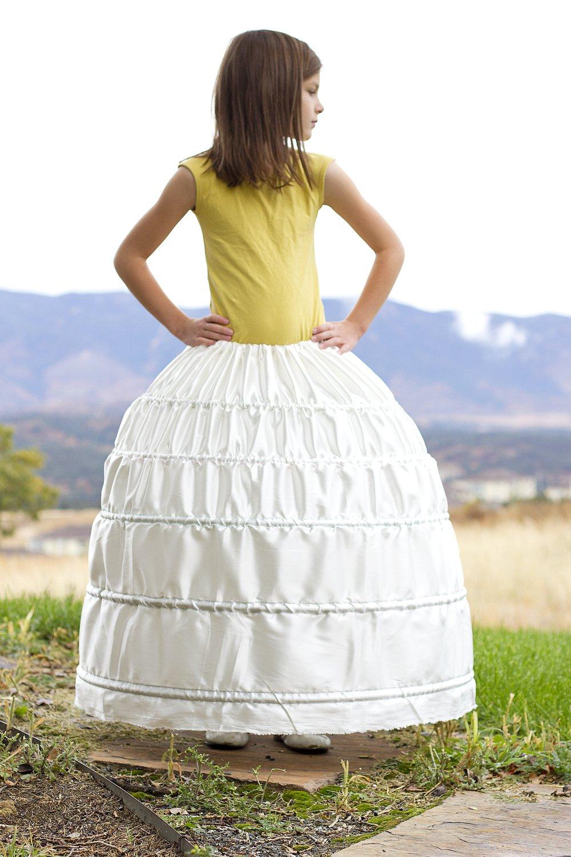 Hoop Skirt Dressed Up Girl
