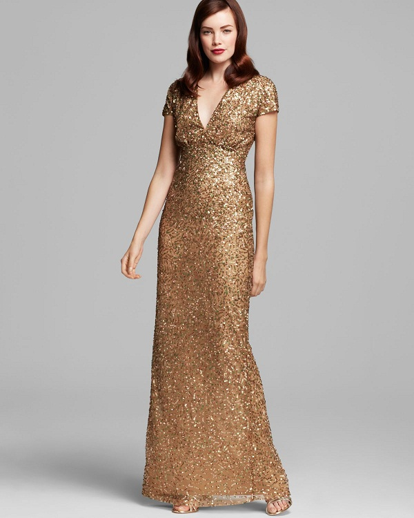 Gold Gown   Dressed Up Girl