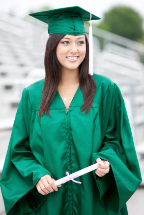 Graduation Gowns Dressed Up Girl