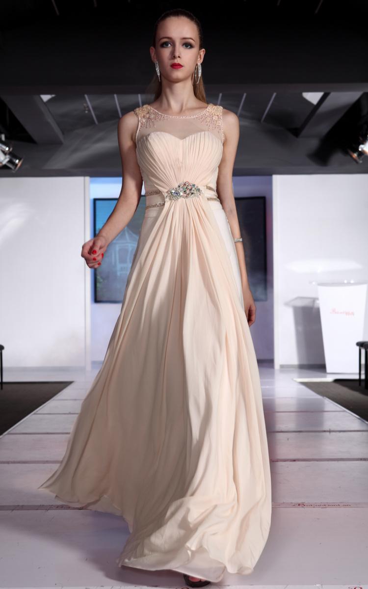 Square-Neck Glitter-Knit Long Prom Dress - PromGirl