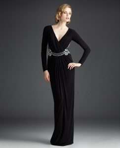 Long Sleeve Black Gown