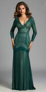 Long Sleeve Evening Gown