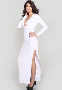 Long Sleeve white Gown