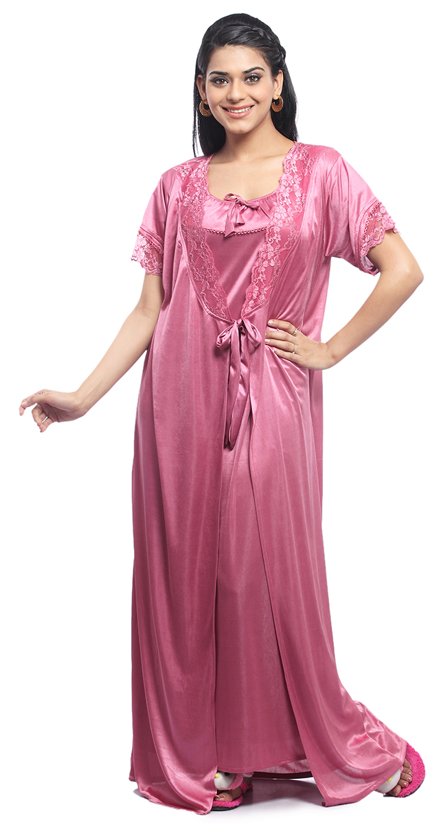 Simple LADIES SATIN NIGHTWEAR WOMENS DRESS SLEEPWEAR NIGHT GOWN KAFTAN 8-16 | EBay