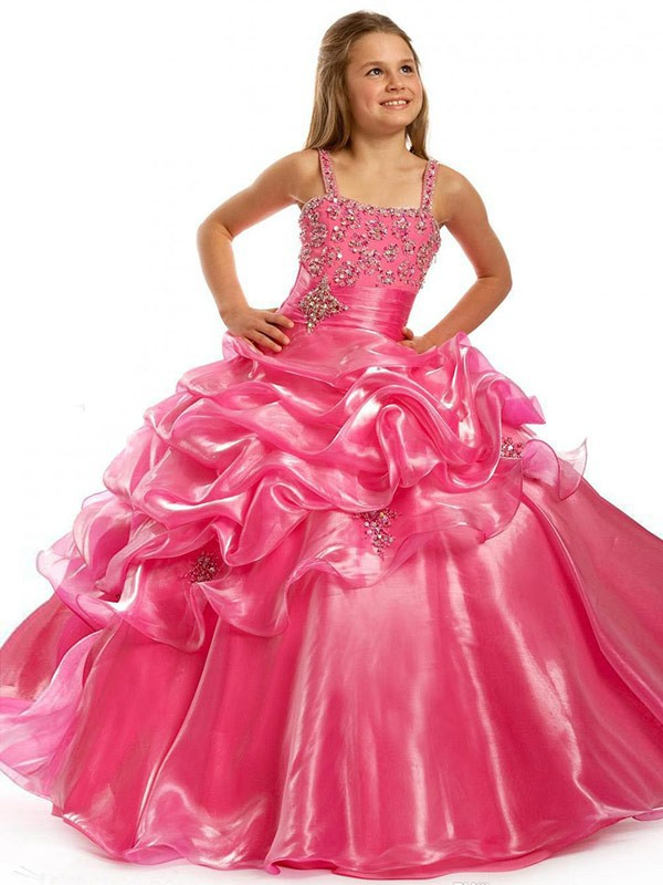 Pageant Gowns Dressed Up Girl