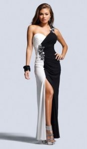 Prom Gowns Black and White