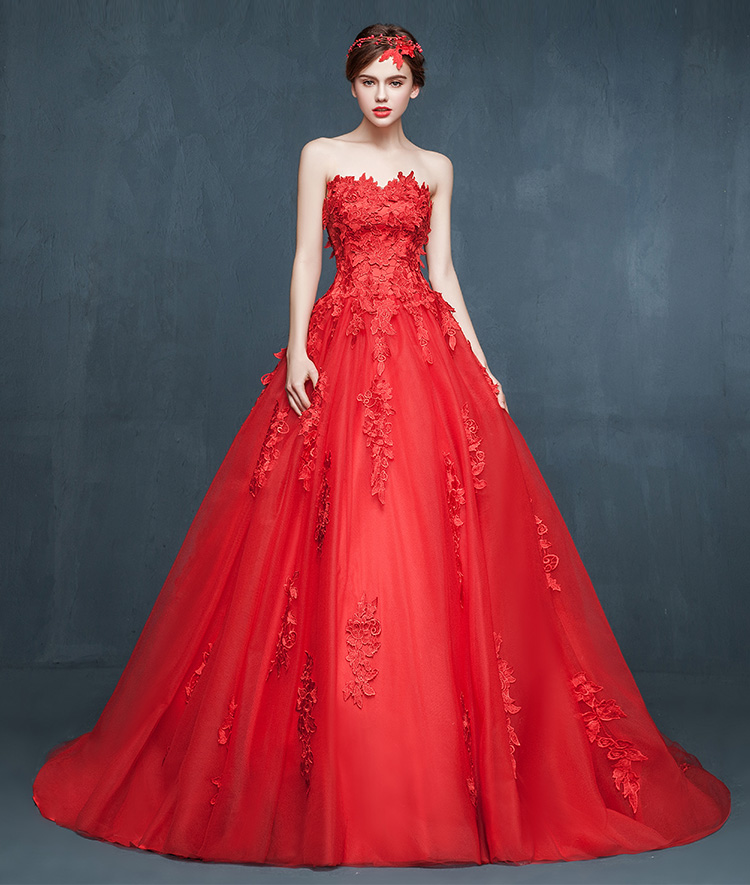 Red graduation dresses 2018