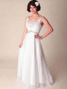 White Chiffon Gown