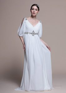White Gowns with Sleeves