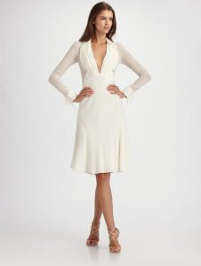 White Long Sleeve Gown
