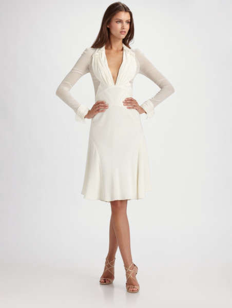 Long Sleeved White Dress - Colorful Dress Images of Archive