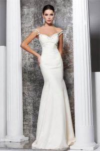White Mermaid Gown