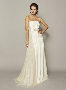 White Silk Gown