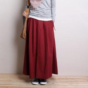 Dark Red Skirt