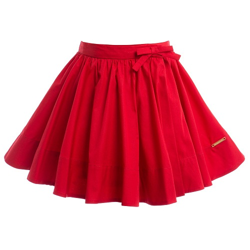 red skirt dressed up girl