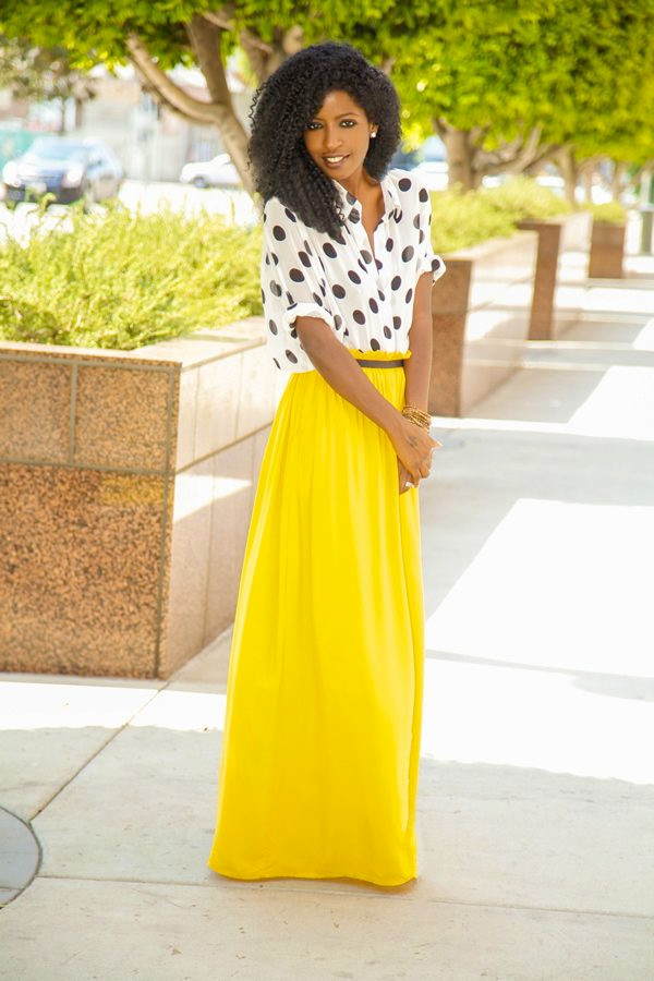 Yellow Long Skirt - Dress Ala