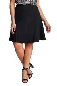 Plus Size Black Skirt