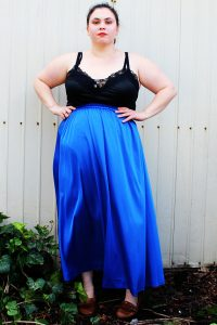 Plus Size Blue Skirt