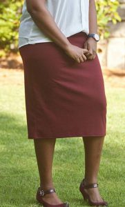 Plus Size Brown Skirt