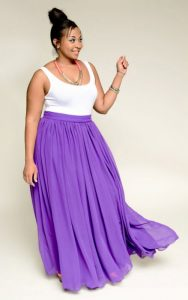 Plus Size Chiffon Skirt