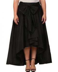 Plus Size High Low Skirt