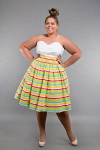 Plus Size High Waist Skirt