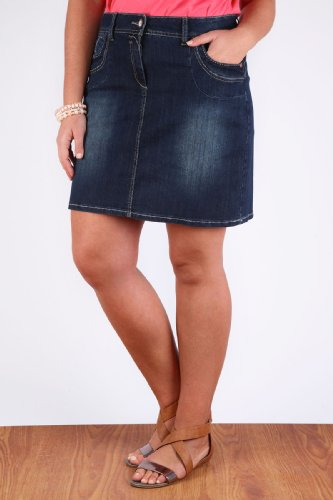 Plus Size Blue Jean Skirts - MX Jeans