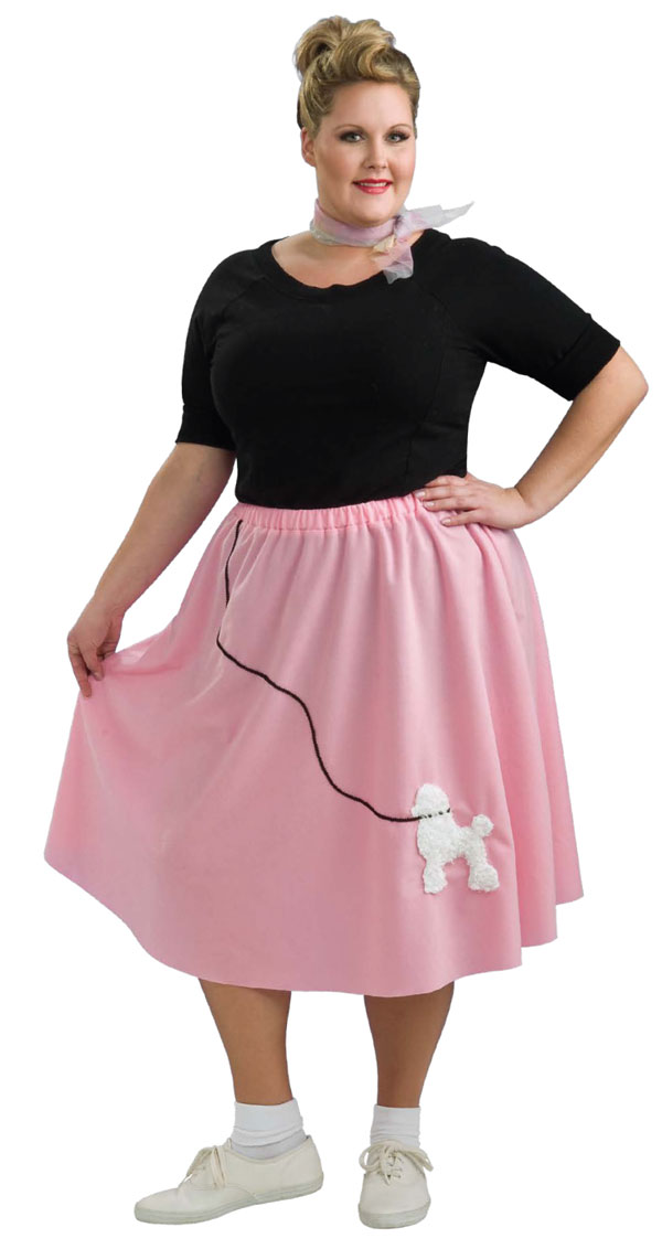 Plus Size Poodle Skirt Long Island Costume Fifties 1950s Makeup