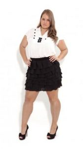 Plus Size Ruffle Skirt