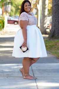 Plus Size White Skirt