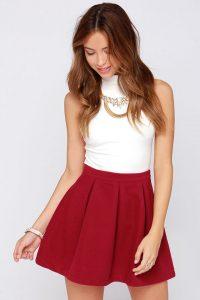 Red Mini Skirts