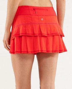 Red Running Skirt