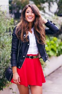 Red Skirt Outfit