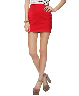 Red Short Skirt - Dress Ala