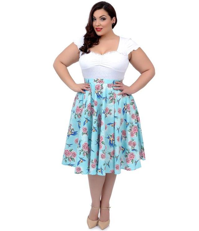 Waist high plus size skirts