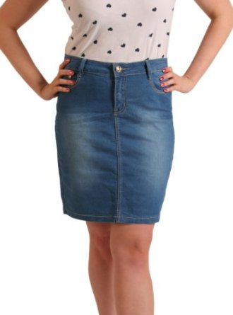 Knee Length Blue Jean Skirts