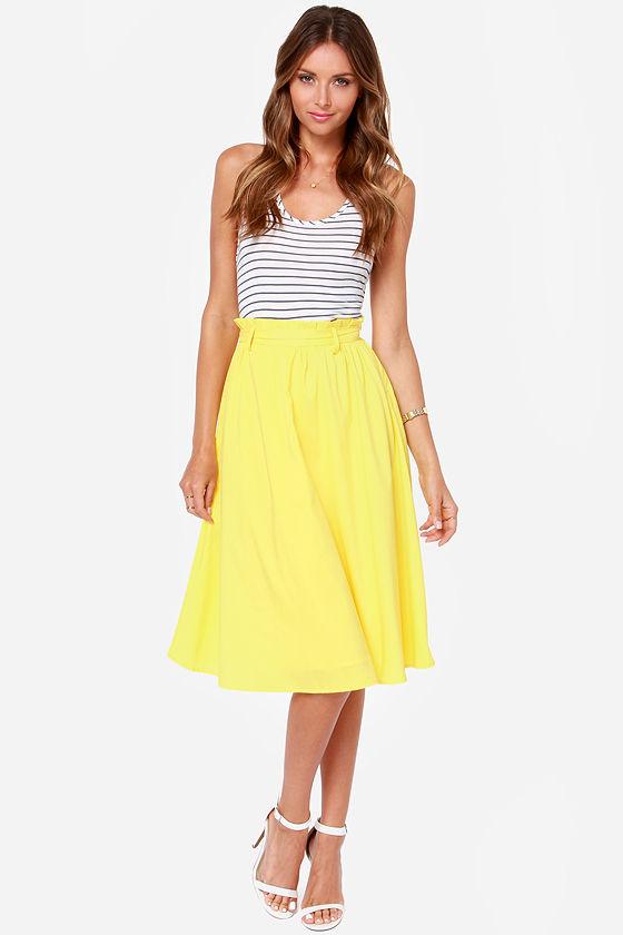 yellow skirt dressed up girl