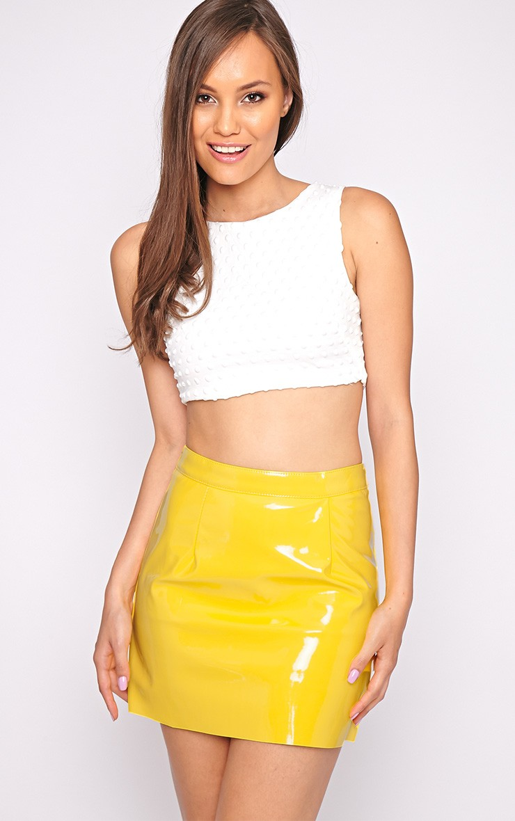 Yellow Skirt Dressed Up Girl