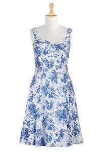 Blue Floral Sundress