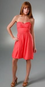 Coral Strapless Sundress