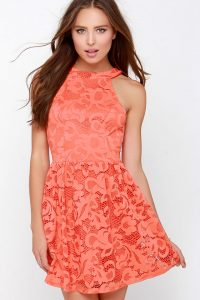 Coral Sundress Lace