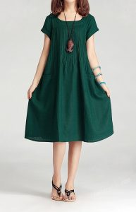 Dark Green Sundress