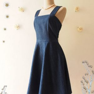 Images of Navy Blue Sundress