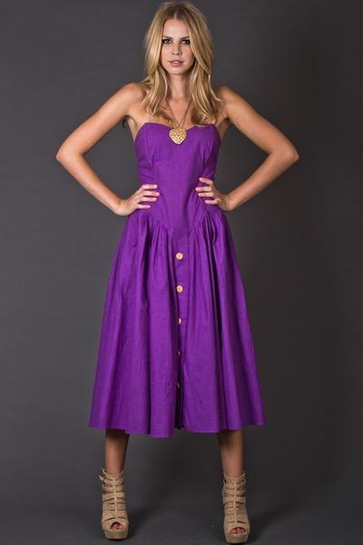 Purple Sundress Dressedupgirl Com