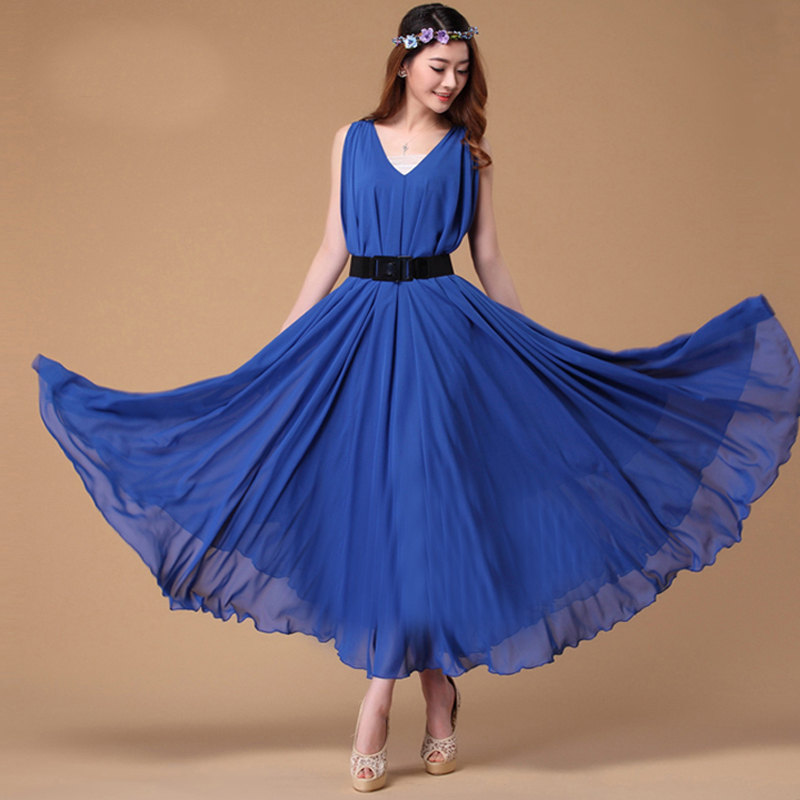 Royal Blue Sundress Dressed Up Girl