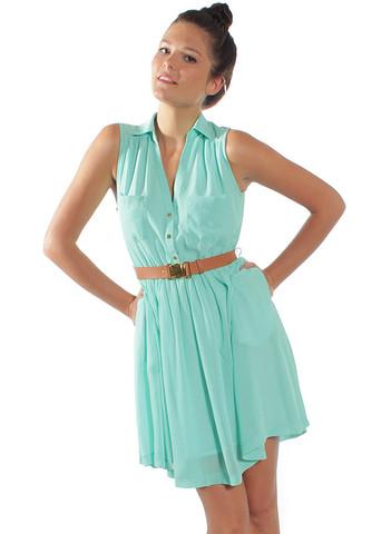 Turquoise Sundress Dressed Up Girl