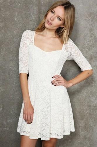 White Lace Sundress | Dressed Up Girl