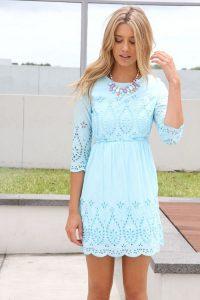 Light Blue Lace Sundress