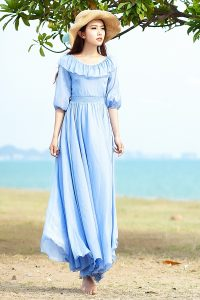 Long Sundress with Sleeves