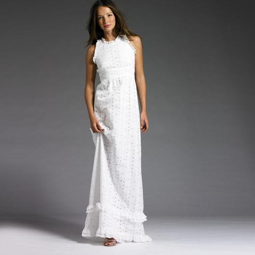 Long White Knit Dress